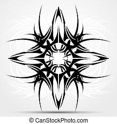 agudo, tribal, tatuaje