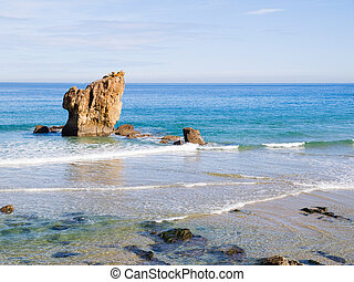 Aguilar beach in Asturias, Spain.