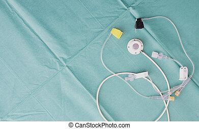 aguja, central, venoso, acceso, dispositivo