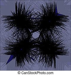 agujas, abstracción