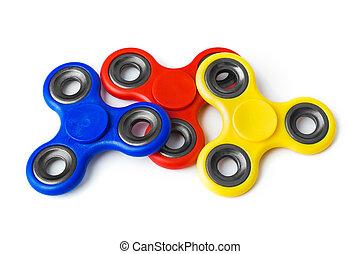 agujas giratorias, multicolor