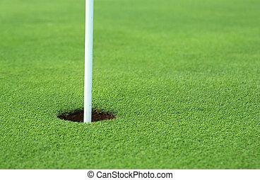 agujero, golf