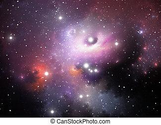 agujero, nebulosa, negro