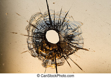 agujero, ventana, bala
