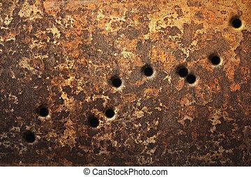 agujeros, bala, plano de fondo
