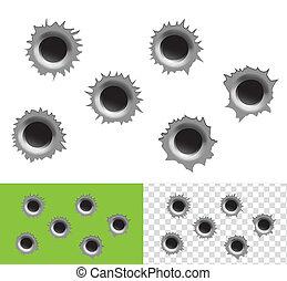 agujeros de bala