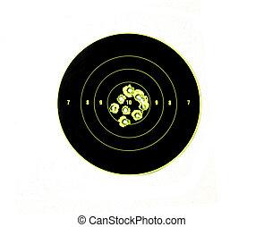 agujeros de bala, precisión, blancos, se manifestar, ...