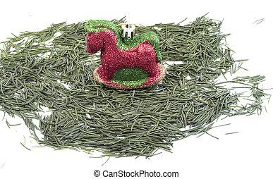 agulhas, árvore, natal