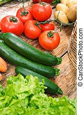 agurk, og, tomat