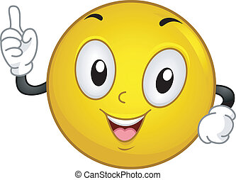 Aha! Smiley - Illustration of a Smiley Having an Aha! Moment