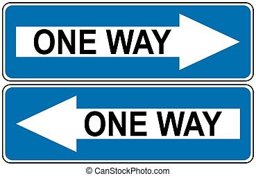 Ahead Only, one way traffic sign, Drive Straight Arrow...