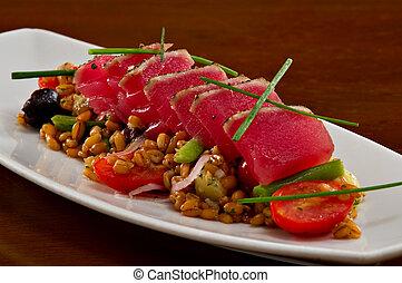 Ahi Tuna Sashimi Salad