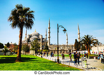 ahmed, istanbul, sultan, mosquée, mosque), (blue