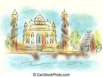 Ahmedabad abstract illustration
