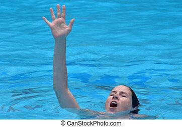 ahogo, mujer