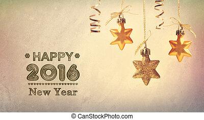 ahorcadura, estrellas, año, nuevo, mensaje, 2016, feliz