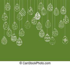 ahorcadura, huevos de pascua, ornamento, tarjeta