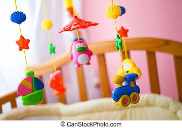 ahorcadura, niños, pesebre, juguetes