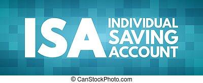 ahorro, concepto, isa, individuo, siglas, -, cuenta