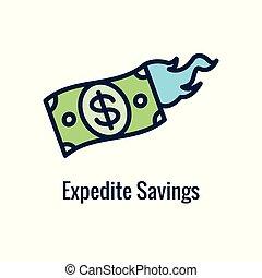 ahorros, saliente, imágenes, icono, y, monetario, retiro