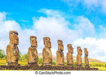 ahu, akivi, moai