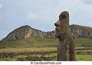 Ahu Tongariki, Easter Island - Ahu Tongariki. Ancient Moai...
