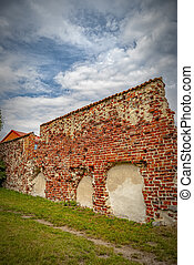 Ahus Town Wall Remains - The remains of the town wall that ...