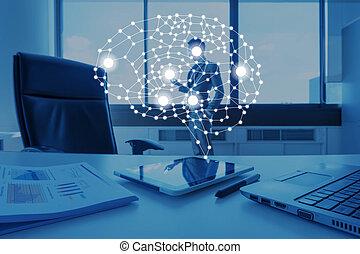 ai, 概念, ビジネス, 人工, 概念, 技術, 知性