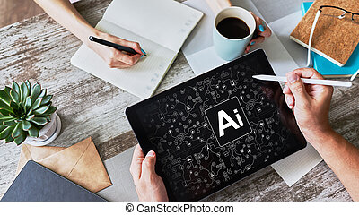 AI - Artificial intelligence, Internet, IOT and automation concept