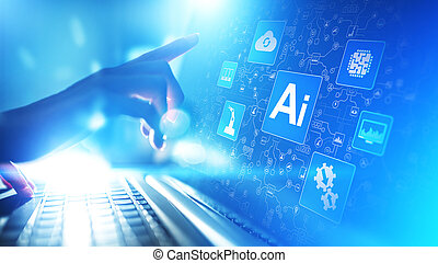 AI Artificial intelligence, Machine learning, Big data analysis and automation technology in business