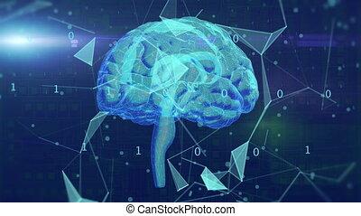 AI brain rotating