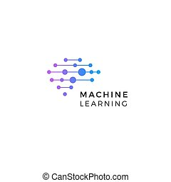 ai, cyber, intelligence, icon., artificiel, isolé, emblem., signe., logo., network., numérique, symbole., machine, innovation, vecteur, technologie, apprentissage, cerveau, neurons, neural, connexions, données, illustration., humain, synapses
