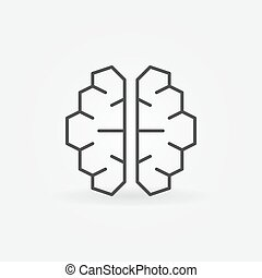 ai, cyberbrain, pictogram, -, vector, kunstmatige intelligentie, hersenen, symbool
