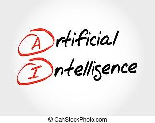 ai, intelligentie, -, kunstmatig