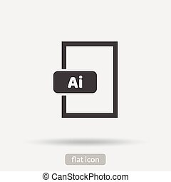 ai, pictogram, vector, eps10, type
