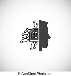 Ai related icon on background for graphic and web design. Simple illustration. Internet concept symbol for website button or mobile app