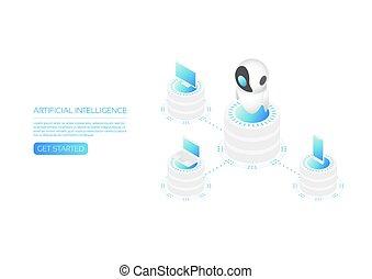 Ai technology isometric - Isometric artificial intelligence...