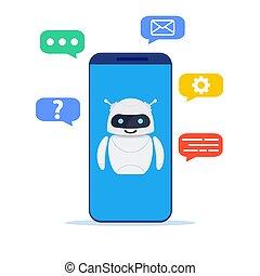 AI technology, smart chat bot.