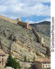 Aibarracin wall in Spain