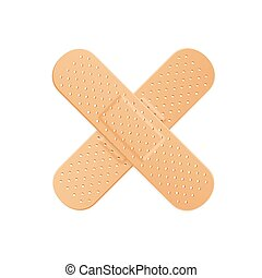 Aid Band Plaster Strip Medical Patch. Vector