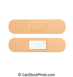 Aid Band Plaster Strips Set. Vector