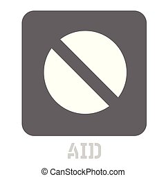 Aid conceptual graphic icon. Design language element,...