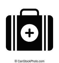 aid  glyph flat icon