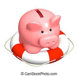 aide, à, financier, récession