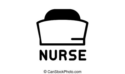aide, animation, monde médical, icône, infirmière