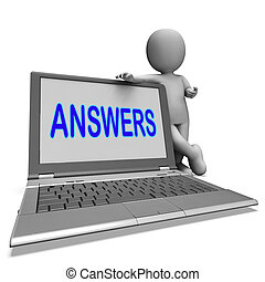 aide, assistance, faq, réponses, ligne, ordinateur portable...