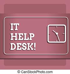aide, business, technology., photo, projection, il, écriture, portion, conceptuel, desk., ligne, showcasing, main, soutien, assistance