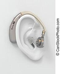 aide, ear., audition, 3d