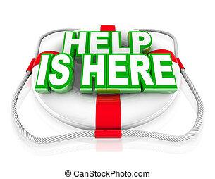 aide, est, ici, préservateur vie, secours, économie, vie