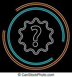 aide, faq, question, symbole., signe, icon., marque